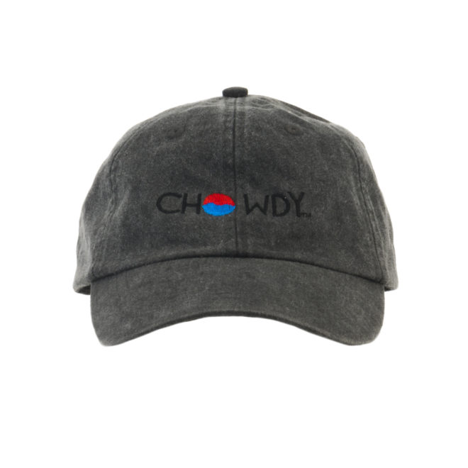 Asphalt Hat Front with Chowdy logo