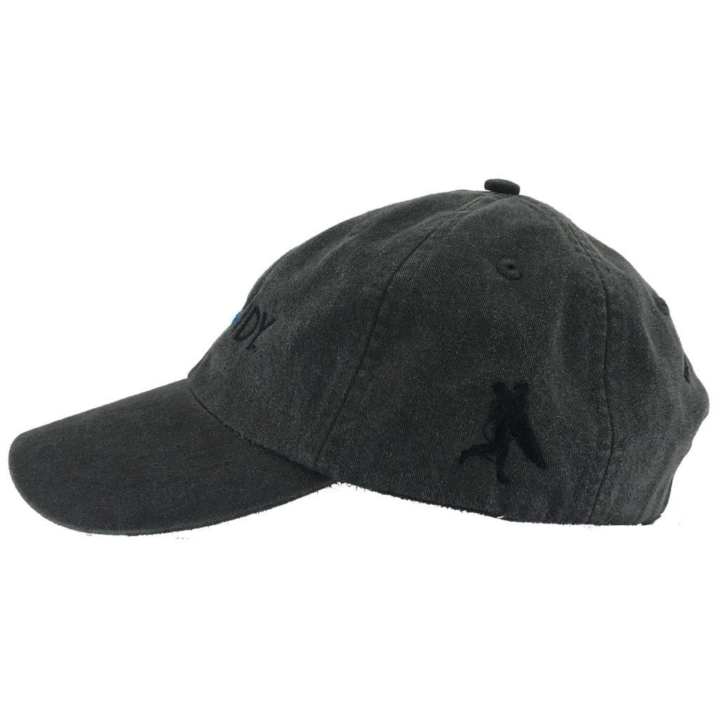 Asphalt Hat Left Side with Chowdy Surfer
