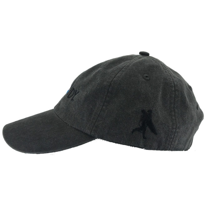 Asphalt Hat Left Side with Chowdy Surfer