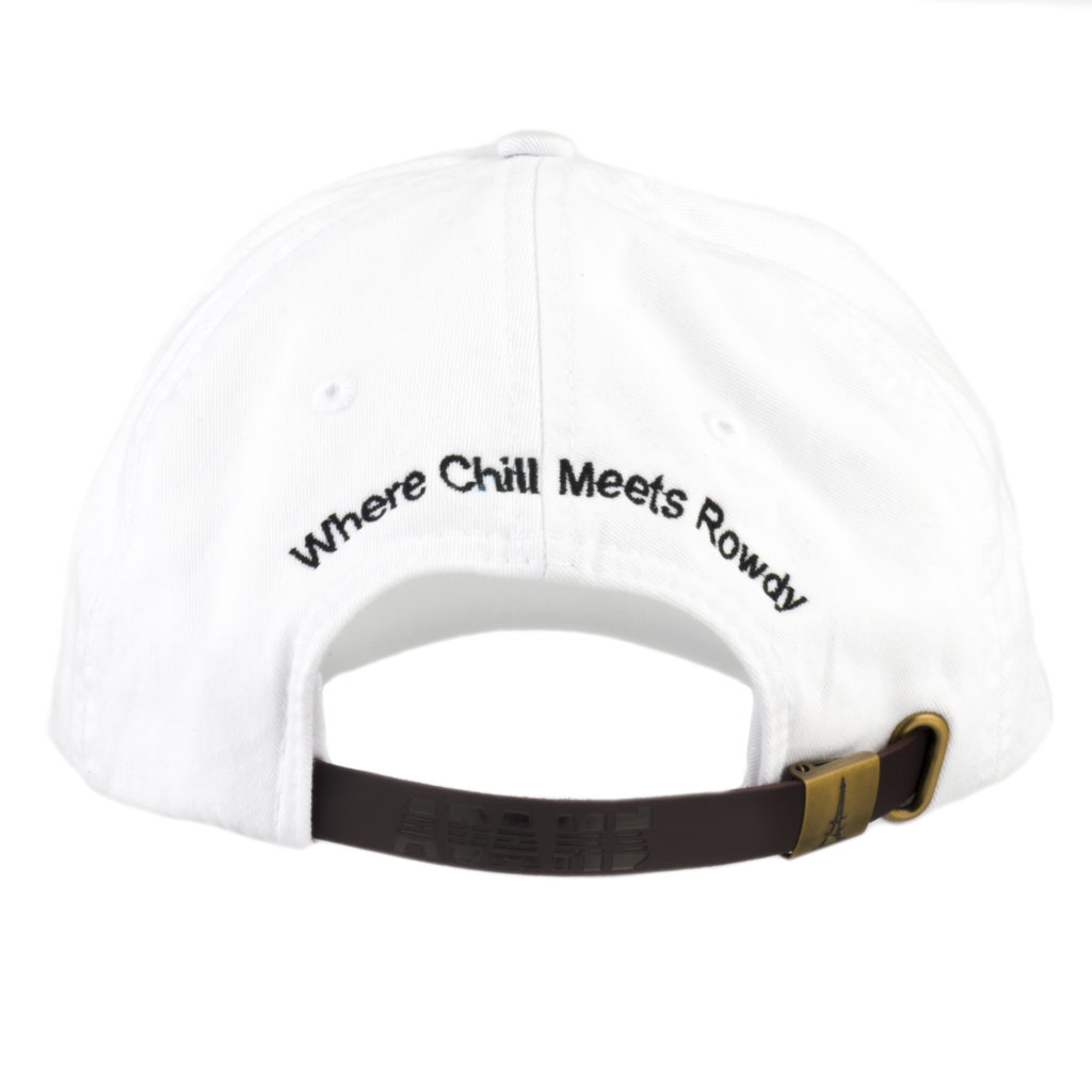 Whiteout Hat Back with Tagline
