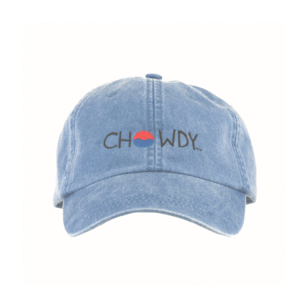 Lake Hat Front View with Chowdy Logo