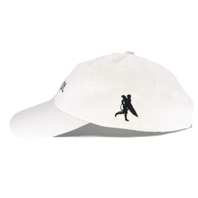 Whiteout Hat Left Side with Chowdy Surfer