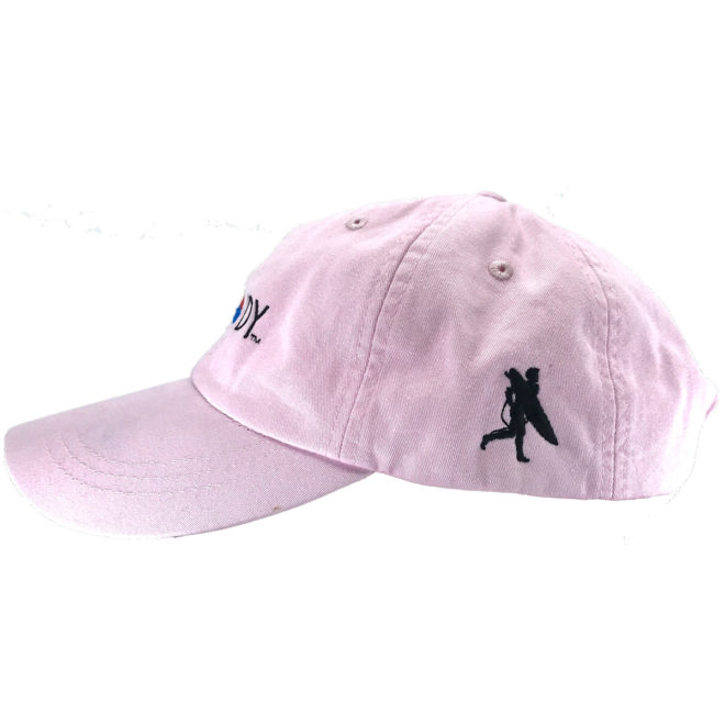 Pink Ballet Hat Left Side with Chowdy Surfer