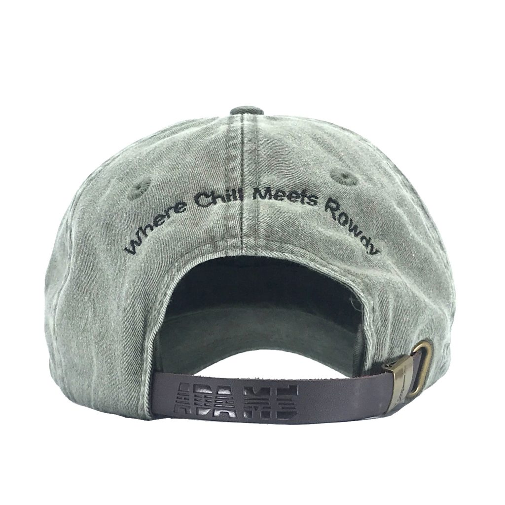 Moss Hat Back Side with Tagline
