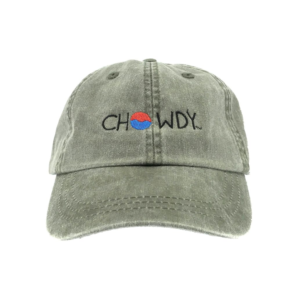 Moss Hat Front with Chowdy logo