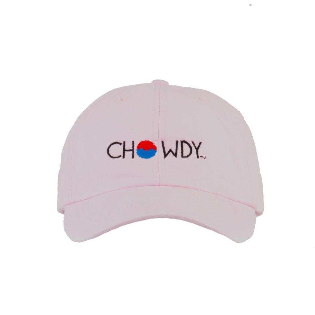 Pink Ballet Hat Front with Chowdy logo